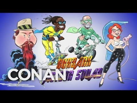 Conan O'Brien & Comic Book Animator Bruce Timm Turn Random People Into Quirky New Superheroes