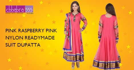 Buy PINK RASPBERRY PINK NYLON READYMADE_SUIT DUPATTA‬ in @ $123.95 AUD fom collections of over 4000 unique products - design, colour and fabric scheme of ‪Chhabra555‬ in ‪Australia‬.