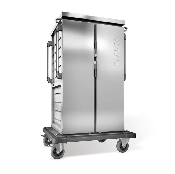 GTARDO.DE:  Tablettwagen mit Kühlung, 16 GN-Tabletts, doppelwandig, 2 Schränke mit Flügeltüren, BxTxH 1032x783x1406 mm 3 681,00 €