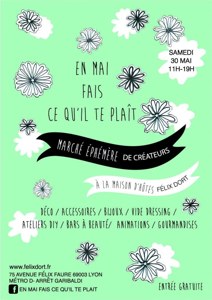 Un marché éphémère à Félix Dort ! 30 mai 2015, gratuit ! Le programme détaillé sur facebook : En mai fais ce qu'il te plait !