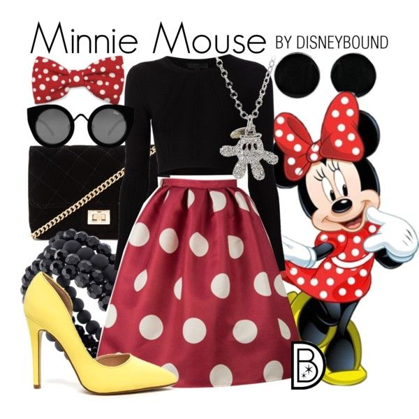 Minnie Mouse by leslieakay on Polyvore featuring polyvore, fashion, style, Cushnie Et Ochs, Forever 21, Apt. 9, AeraVida, Disney, Quay and clothing