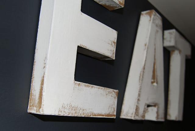 diy distressed cardboard letters from hobby lobby more