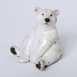 Raku fired bear by Lisa Wilkinson (Yellowhead County, AB). Member of the Alberta Craft Council.