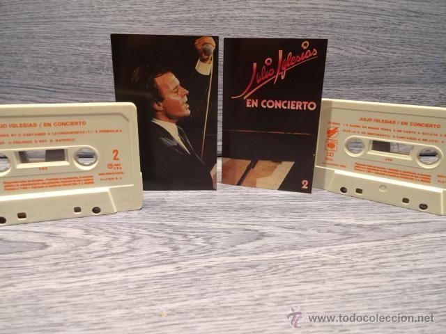 JULIO IGLESIAS EN CONCIERTO. DOBLE MC / CBS - 1983. COMO NUEVOS.