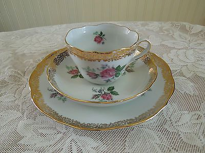 TRIPTIS-PORZELLAN-MADE-IN-GERMANY-VINTAGE-TEA-SET-ROSE-DESIGN