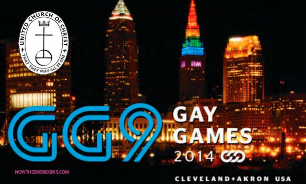 The United Church of Christ makes full, 100% commitment to support  the LGBT Mafia by sponsoring the 9th Annual Gay Games 2014 in Ohio. #GayGames9 #UnitedChurchOfChrist http://www.nowtheendbegins.com/blog/?p=23147