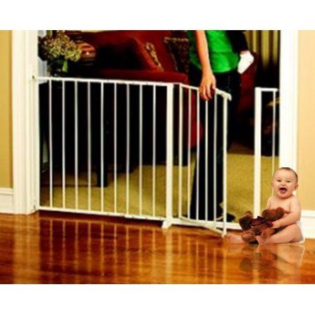 Regalo Extra Wide Baby Gate, 59 inch with Walk Through Door and Safety Lock
