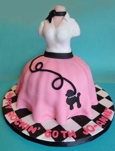 Poodle Skirt (50s inspired) Birthday cake
