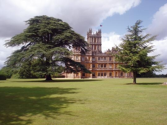 "On the day my sister-in-law and I made our pilgrimage from London to Highclere Castle , where ""Downton Abbey"" is filmed, my husband took the kids to the Harry Potter studios."