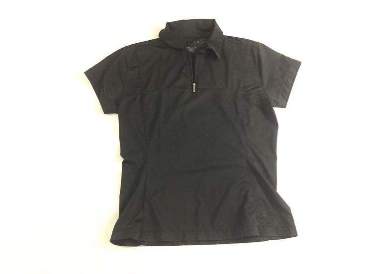 Nike Golf Women Black Polo Size Small Short Sleeves Dri-Fit Material EUC #Nike #PoloShirt