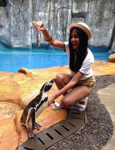 Ms. Gresya Amanda (Puteri Indonesia Pariwisata 2015) wearing our Polo Batik Tees.
