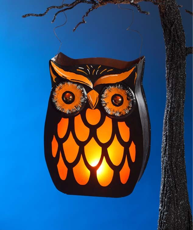 bethany lowe spooky owl lantern from bethany lowe a neat spooky owl lantern party decoration ideashalloween decorationsparties - Halloween Decorations For A Party