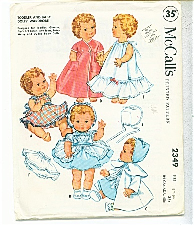 More Audrina's style. I think I must learn to sew these for my sweet AudrinaDolls Pattern, Doll Clothes Patterns, Vintage Dolls, Favorite Dolls, Baby Dolls Clothing, Dolls Clothing Pattern, Originals Vintage, Mccall 2349, Pattern Mccall