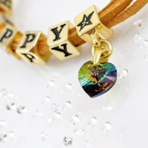 The HAPPY bracelet with SWAROVSKI ELEMENTS crystal heart pendant, gold version http://store.lovya.net/letters-from-your-heart-lovya/439-bransoletka-happy-krysztalowe-serduszko-swarovski-elements-wersja-zlota.html