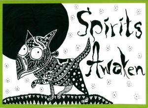 Frankenweenie zentangle art card. Zana's Cards measure 7.2″ x 5.2″, or 18cm x 13cm.They also include an envelope for you to use to send your cards. #halloweenzentangle #dogzentangle #frankenweenie #zentanglecard #zentangleart #zanascards www.zanascards.com