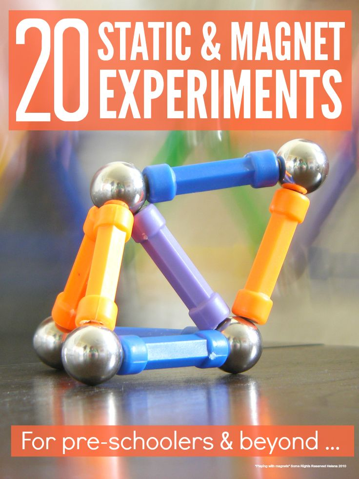 Kids love these 20 fun hands on static and magnet science experiments