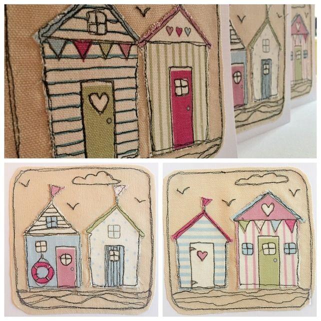 Beach Hut Machine Embroidery Design: Beach Hut Decor, Beach Huts Art