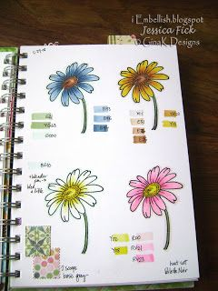 Daisy Color Combos Copic Coloring Book