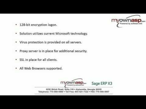 Sage #ERP #X3 Turnkey #Hosting - Myownasp com