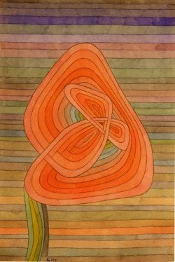 Paul Klee - Lonely blossom 1934 Watercolour, pen and ink on paper (Columbus museum of art, Ohio)