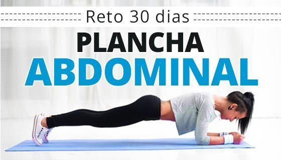 """Reto fitness de 30 días para un abdomen plano. Ejercicio: Plancha abdominal (Plank) Como hacer el """"Reto plancha 30 días""""para conseguir un vientre plano."""