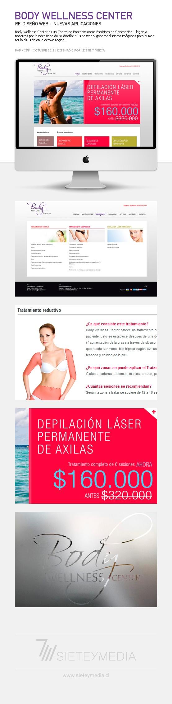 Full re-diseño web. Se realizó una nueva gráfica más moderna, limpia e indexable a Google. Además se diseñaron elementos publicitarios en Concepción (Chile).    #web #webdesign #css #re-diseño #re-design web  Más trabajos --> www.sieteymedia.cl