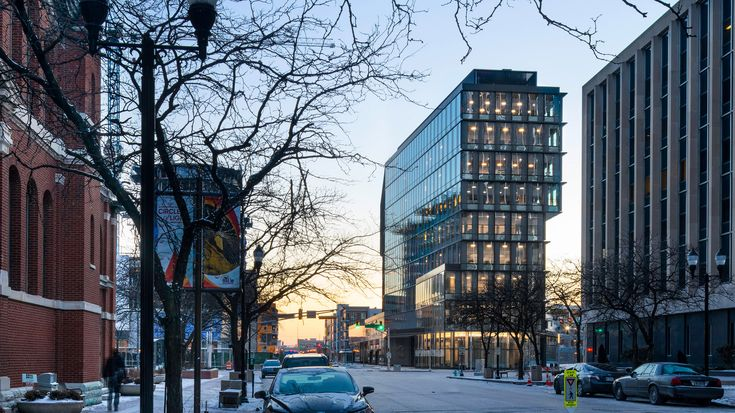 Deborah Berke's tower for Indianapolis features shifted floor plates