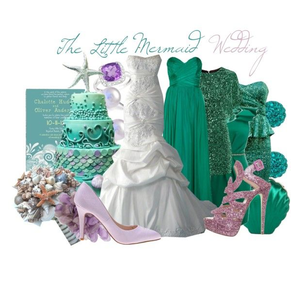 Mermaid Wedding Dresses Polyvore : Best images about under the sea wedding theme on