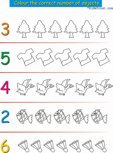 Worksheets Nursery Maths 70 best images about numeros on pinterest cut and paste kids math learning activities numbers with pictures nursery printable exercise