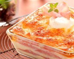Lasagnes légères au chèvre et au bacon    Cuisine AZ