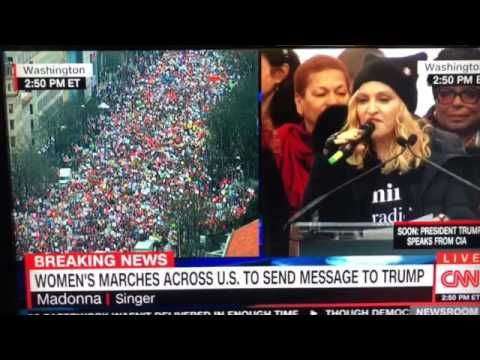 "OMG Madonna says ""Fuck You"" Live on News CNN 1/21/17 Check more at http://dougleschan.com/the-recruitment-guru/news/madonna-says-fuck-you-live-on-news-cnn-12117/"