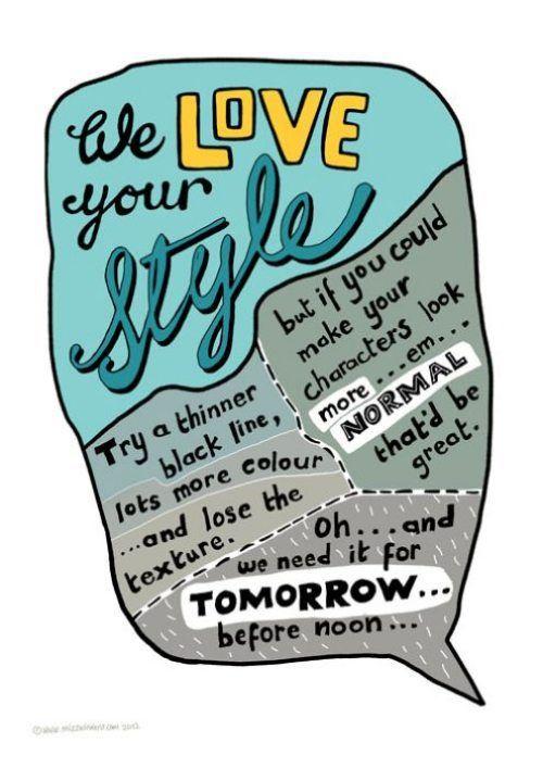 Best Designer Humor Images On Pinterest Typography Design - Funny illustrations show the love hate relationship between designers
