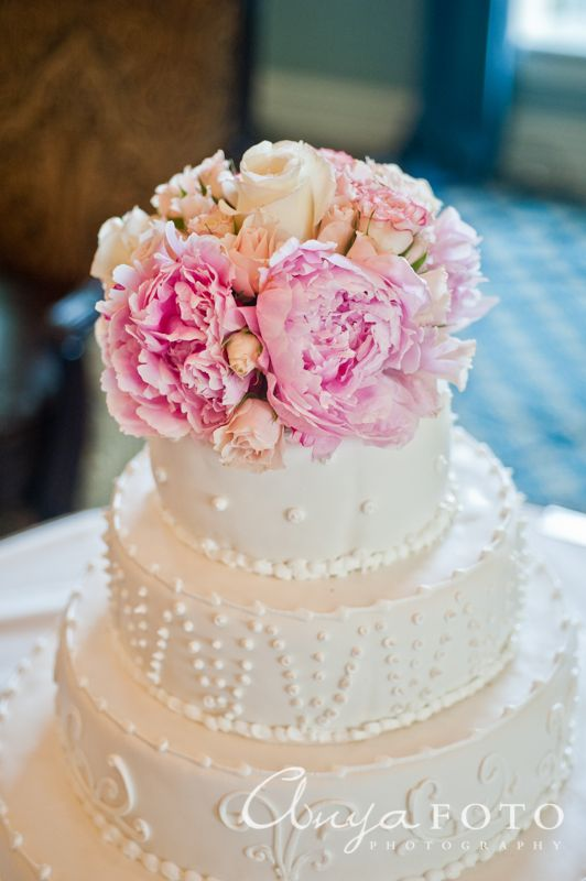 Wedding Cake Toppers anyafoto.com #wedding #caketoppers, wedding cake topper ideas, wedding cake topper desings, white wedding cake, flower wedding cake topper, spring wedding cake toppers, pink wedding cake toppers