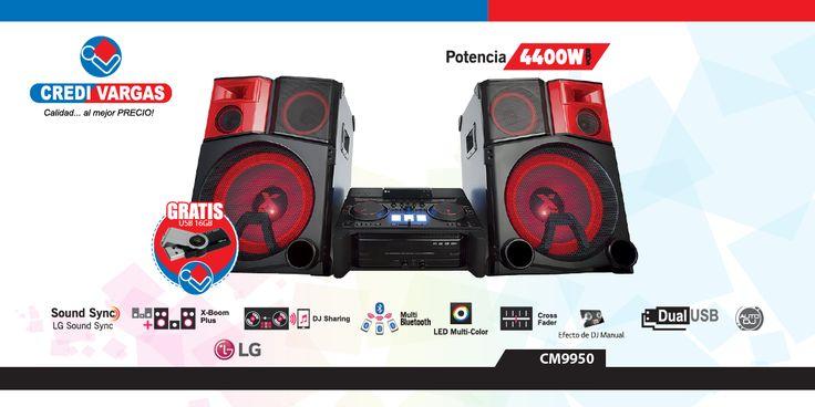 Minicomponente Xboom PRO LG 4400w de potencia, bluetooth, consola DJ, excelencia en sonido y bajos que te hacen vibrar