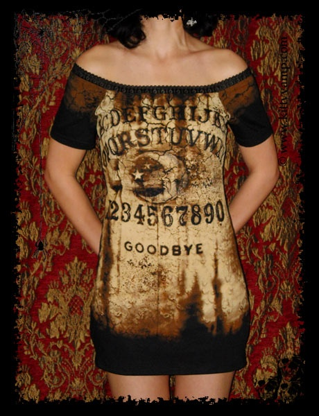 ouija shirt, dress. This could be a fun halloween costume starter piece!