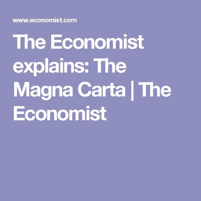 The Economist explains: The Magna Carta | The Economist