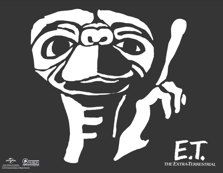 E.T. #Halloween #Pumpkin Carving Stencil Template