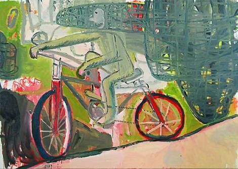 "Manic energy ... Michael Bell's New Bicycle (2006). His latest canvases show him to be painting ""with the panache of a German expressionist""."