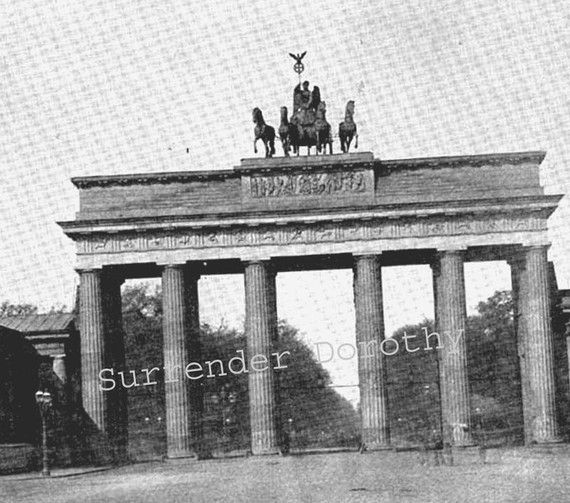 Brandenburg Gate Berlin Germany 1890 by SurrenderDorothy on Etsy (Art & Collectibles, Photography, Black & White, grecian style, monument column, Europe city Germany, Black white print, stone architecture, photograph photo, print illustration, Surrender Dorothy, paper ephemera art, arch entrance gate, 1890s Victorian, history victory, street metropolitan)