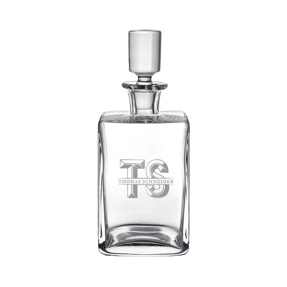 Engraved Whiskey Decanter Whisky Carafe Personalised by LPZUK