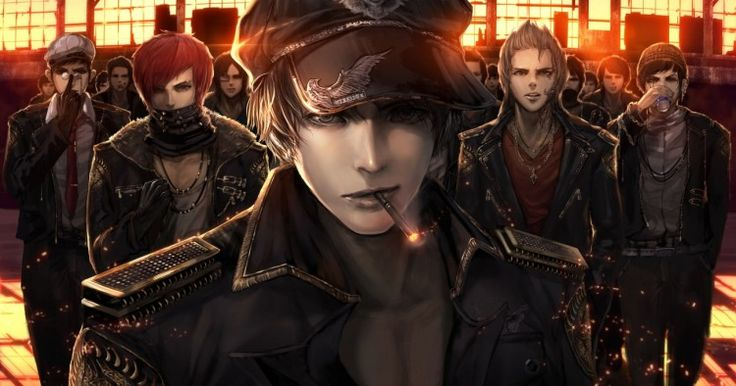 Everyone goes gangster at some point. These fine gentlemen look cool as sin. jname made this original anime wallpaper.