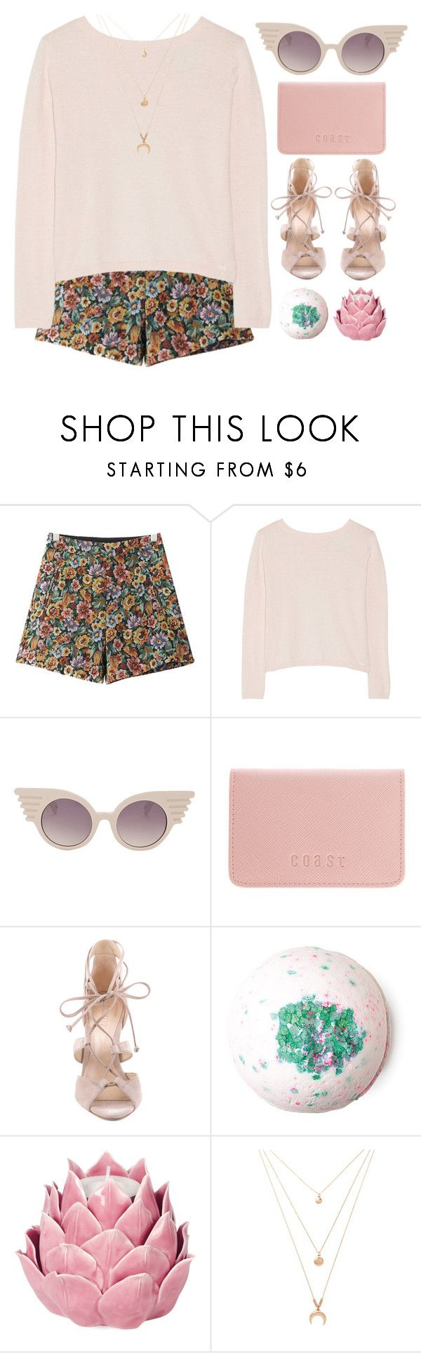 """""""Adored by him// Dodie Clark"""" by blood-under-the-skin ❤ liked on Polyvore featuring Chicnova Fashion, Banjo & Matilda, Jeremy Scott, Coast, Schutz, Zara Home and Forever 21"""