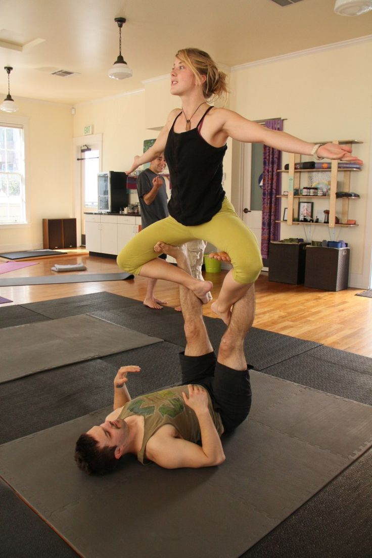 three people yoga poses