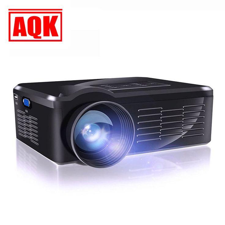 2016 Home Theater 1300lumens Portable HDMI USB LCD LED Mini Micro 3D Projector TV HD 1080P Proyector Projetor Projektor Beamer