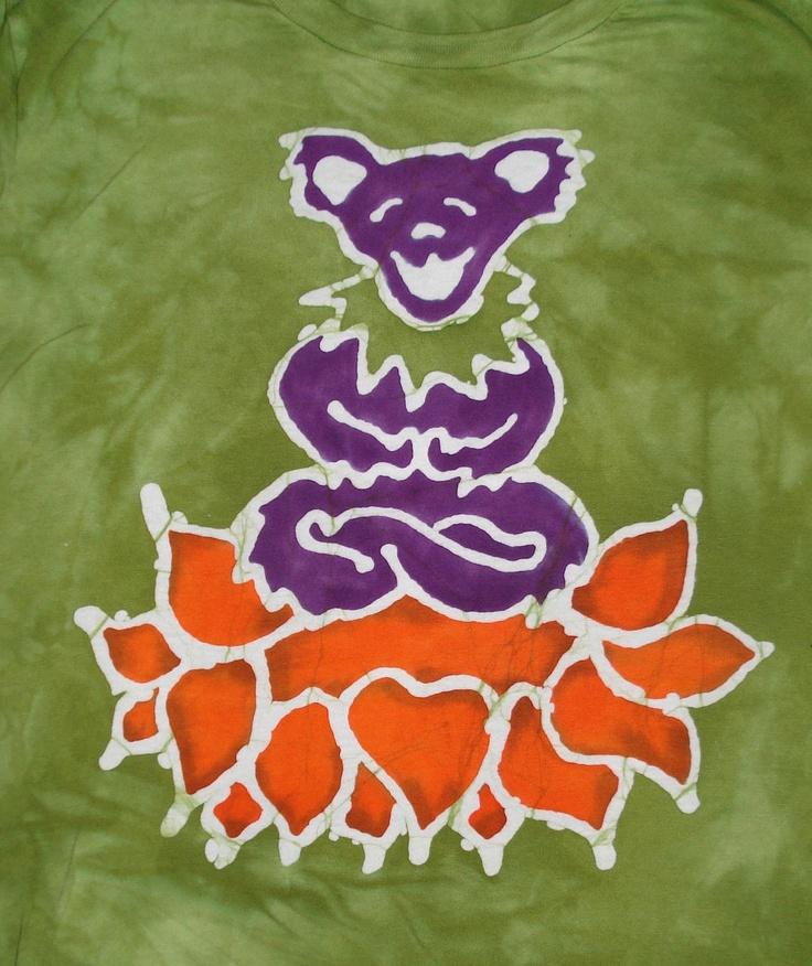 CUSTOM Grateful Dead Dancing Bear Yoga Lotus Batik
