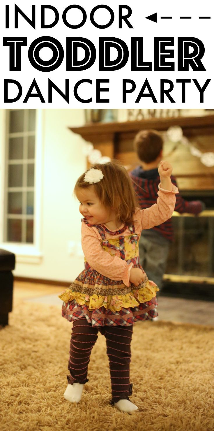 Indoor Toddler Dance Party:  A great way to burn energy during the winter while creating lasting memories!  Part of the 31 Days of Indoor Fun for Toddlers series.