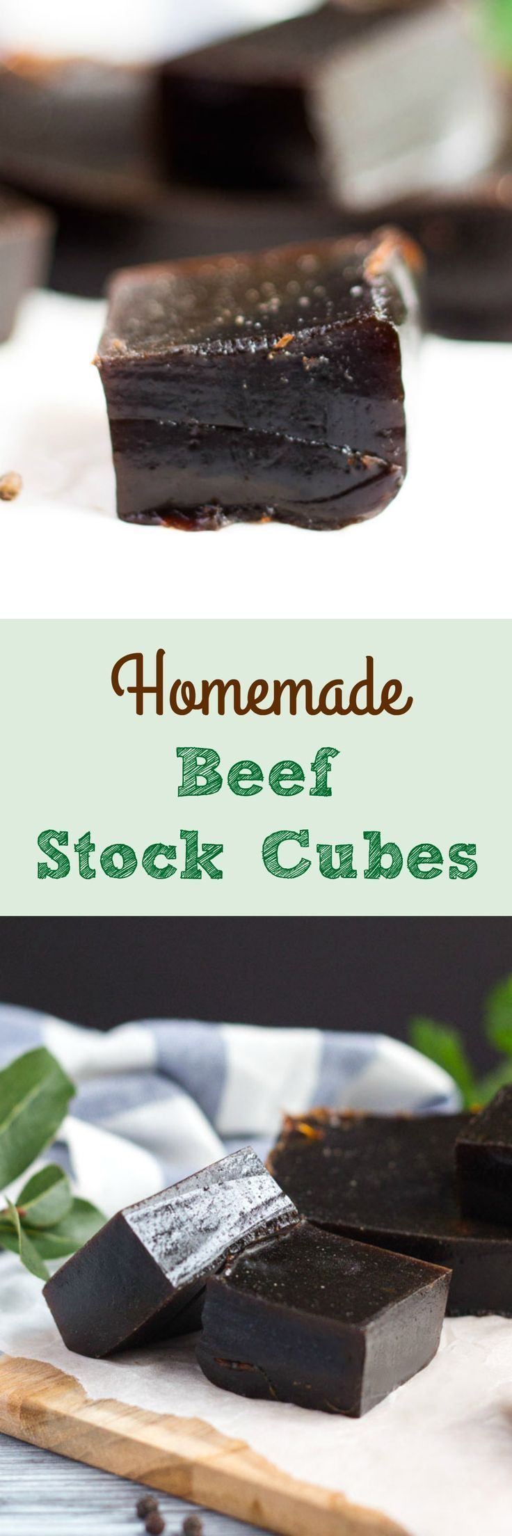 Homemade Beef Stock Cubes. Easy to make, and with a lot more beef (& a lot less additives) than any equivalent commercial variety.