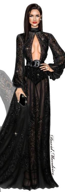 Adriana Lima ♥ wearing ZUHAIR MURAD to the #amfAR New York Gala by David Mandeiro