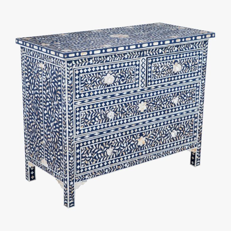 Mother of Pearl Inlay Side Table - Ruby Star Traders