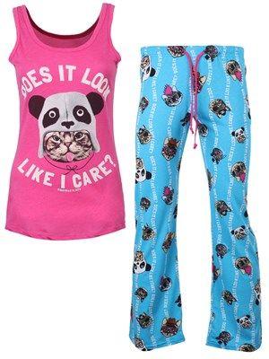 David & Goliath I Care Ladies Pyjama Set #david&goliath #pyjama #cat